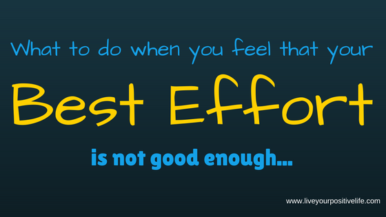 What to do when you feel that your